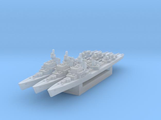 Z-23 Destroyer x3 (Axis & Allies) in Smooth Fine Detail Plastic
