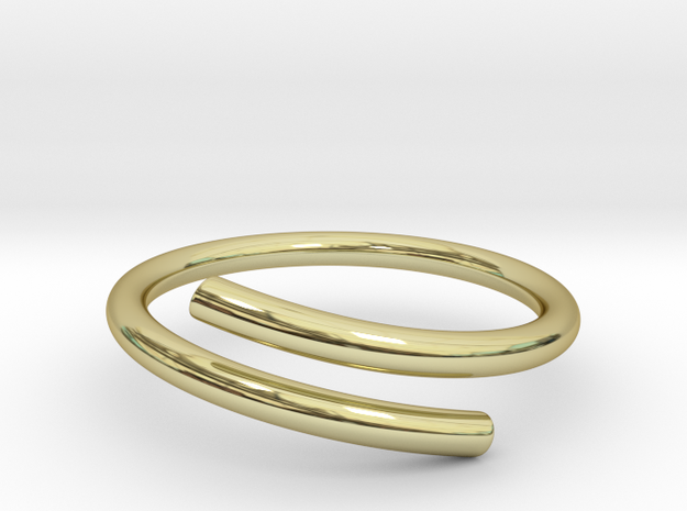 Open Ring in 18k Gold Plated Brass: 8 / 56.75