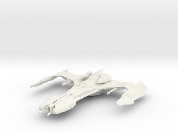 MatHa Class klingon ship in White Natural Versatile Plastic