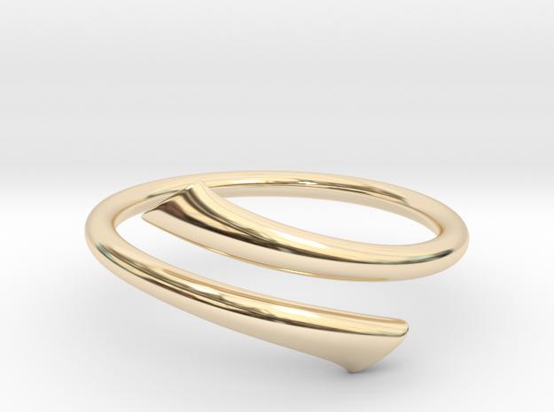 Streamline Open Ring in 14k Gold Plated Brass: 8 / 56.75