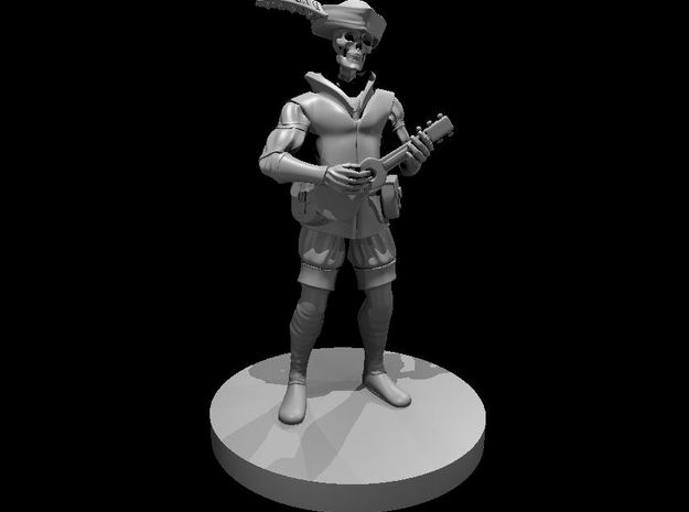 Skeleton Bard 3 in Smooth Fine Detail Plastic