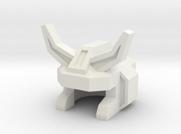 Robohelmet: Road Menace (toy version) in White Strong & Flexible