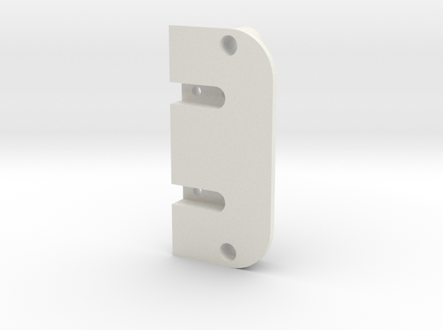 Terra Scorcher Enclosed Battery Holder Top Plate in White Natural Versatile Plastic