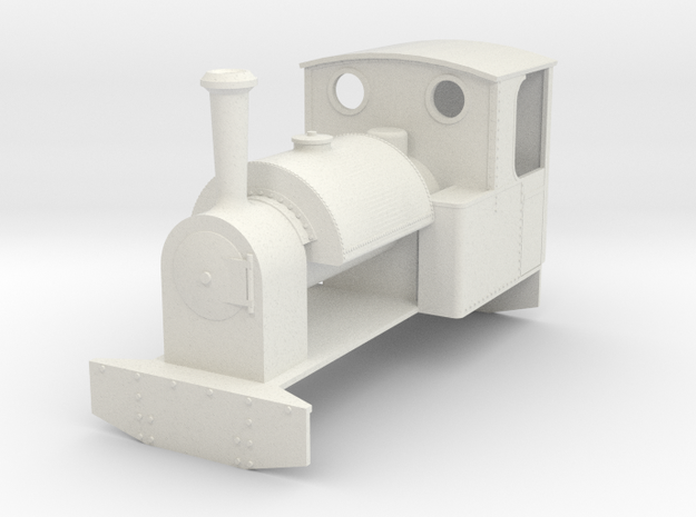 b-43-redlake-kerr-stuart-1146-Dartmoor-042T-loco in White Natural Versatile Plastic