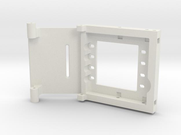 JaBird RC Dual Servo Plt. w Electronics Tray - SCX in White Natural Versatile Plastic