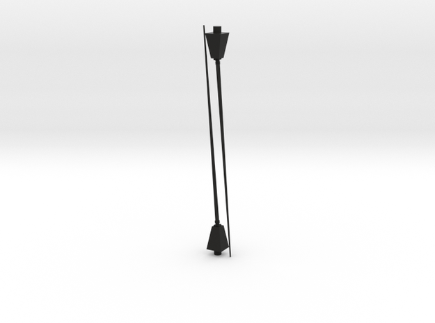 1/96 scale Antenna angled with base in Black Natural Versatile Plastic