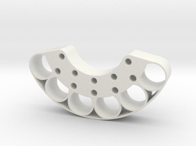 OD60-Tungsten PINEWOOD Support -V2-6SLUGS-OD60 in White Natural Versatile Plastic
