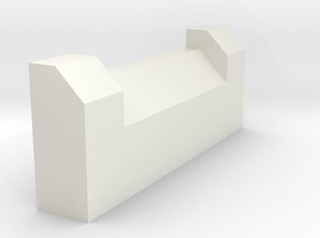 King Hauler Shock Cover, Plain Version in White Natural Versatile Plastic