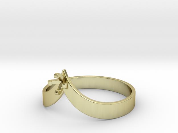 Teardrop Ring - Size 8 - 3mm Gem - 4 Prong in 18k Gold