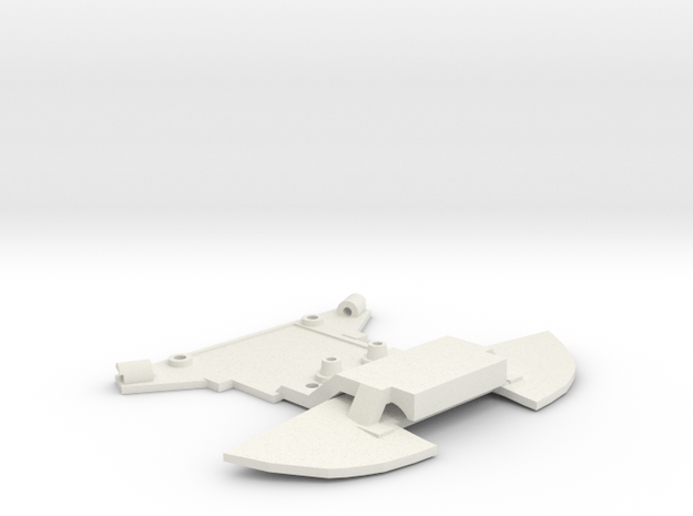 subchassis v7 Mosler front widePN in White Natural Versatile Plastic