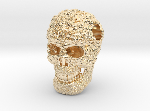 Immortal Skull 14K Gold with 573 code in 14K Yellow Gold