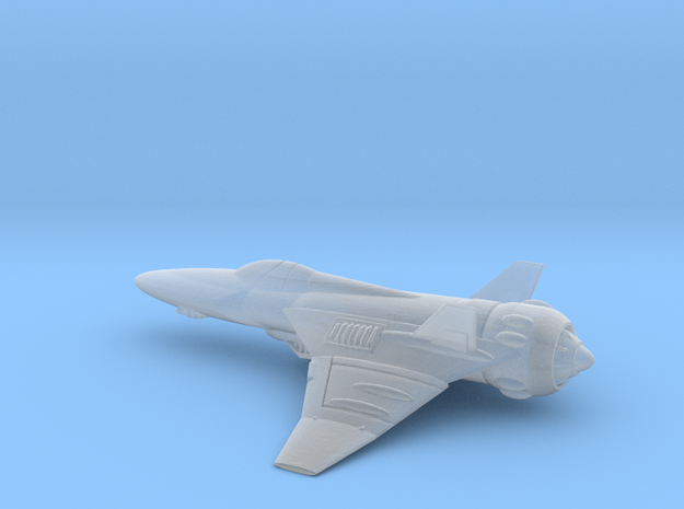 Space Interceptor  in Smooth Fine Detail Plastic