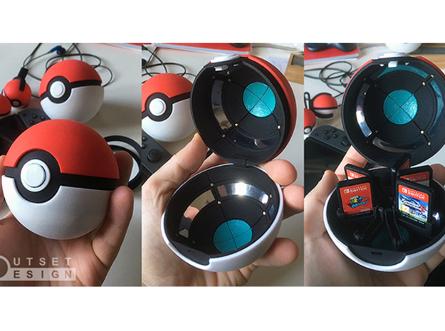 Pokeball - Switch and panels - 1:1 scale in White Processed Versatile Plastic