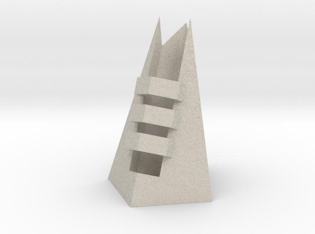 DE Razor and Blade Sample Stand in Natural Sandstone