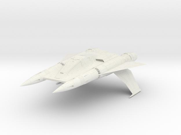 "Starfighter 4"" in White Natural Versatile Plastic"