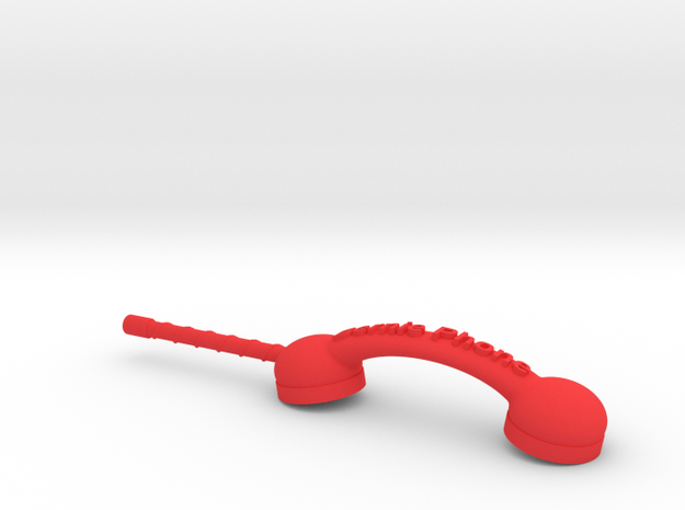 Bernie Phone in Red Processed Versatile Plastic