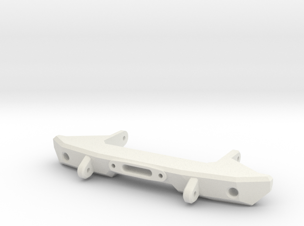 V1W: Front Bumper 70mm in White Natural Versatile Plastic