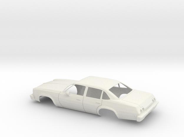 1/25 1973 Chevrolet Chevelle Sedan Shell  in White Natural Versatile Plastic