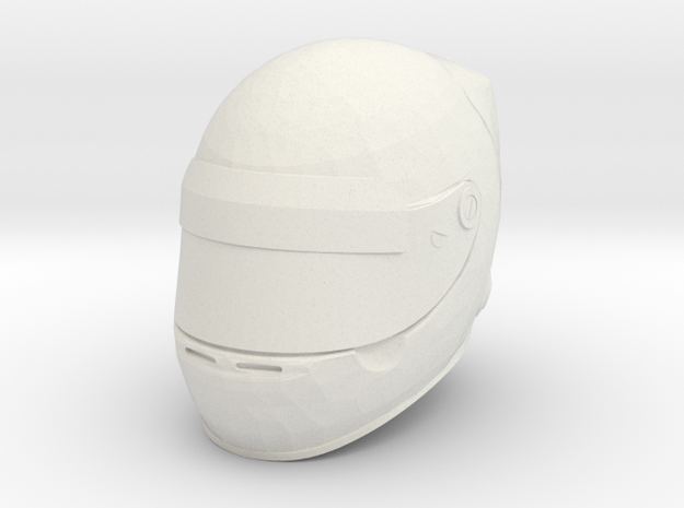 helmet f1 - 1/10 in White Natural Versatile Plastic