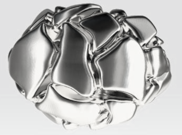 Man's Future Ring, Silver, with 573 code in Polished Silver