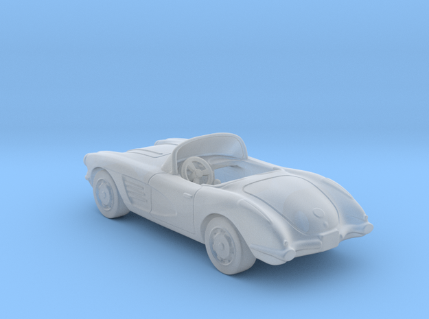 Chevrolet Corvette Convertible  1:120 TT in Smooth Fine Detail Plastic
