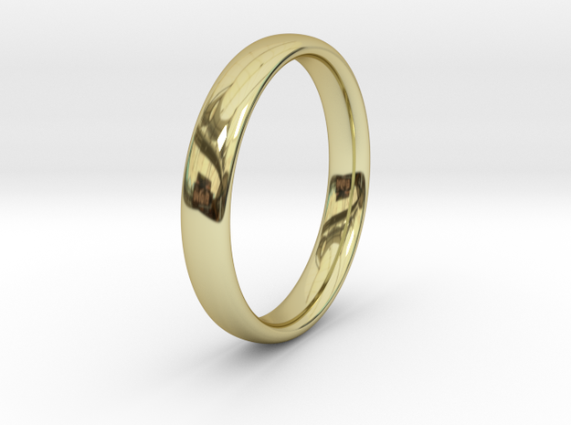 Simple Ring _ A in 18k Gold Plated Brass: 8 / 56.75