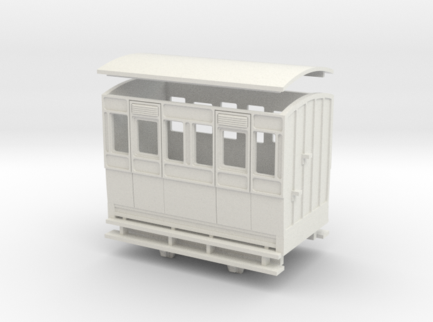 OO9 4w coach 3rd class arc roof 3d printed