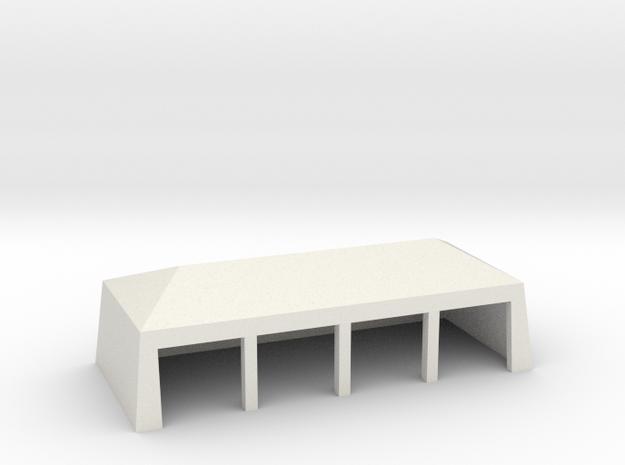 Tierzelt (groß) - 1:87 (H0 scale) in White Natural Versatile Plastic
