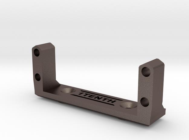 HD Metal Servo Mount for Axial Capra in Polished Bronzed-Silver Steel