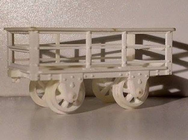 FR 2T Slate Wagon 5.5mm Scale in Smooth Fine Detail Plastic