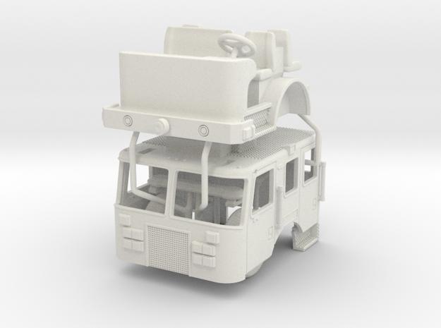 1/87 2009 Philadelphia KME Cab UPDATED in White Natural Versatile Plastic