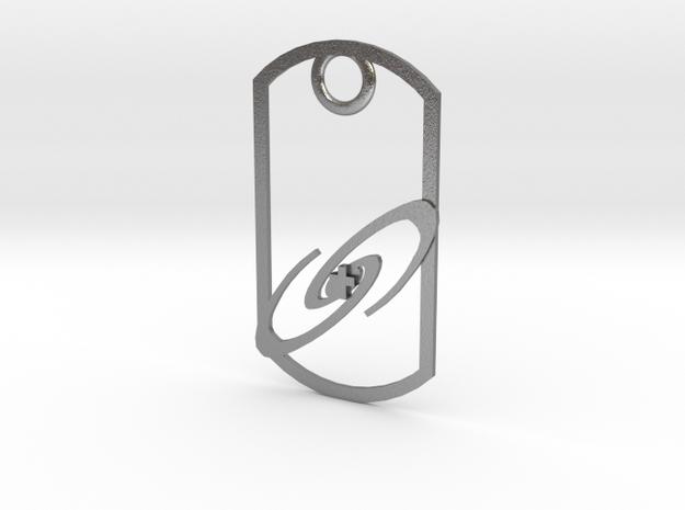 Dog tag - Galaxy and Cross 3d printed