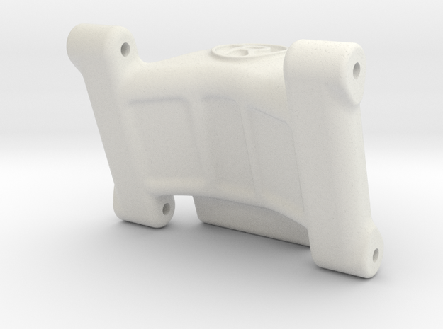 Associated B6 / B6D Wheelie Bar Mount in White Natural Versatile Plastic