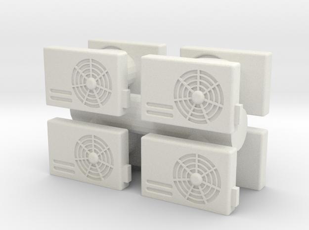 Air Conditioning Unit (x8) 1/43 in White Natural Versatile Plastic