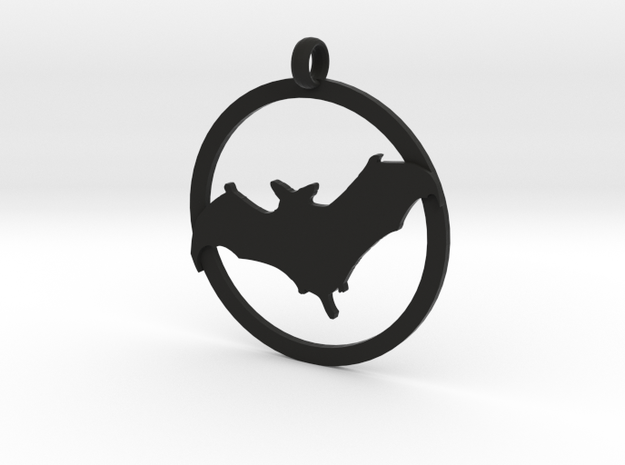 Bat awareness charm in Black Natural Versatile Plastic