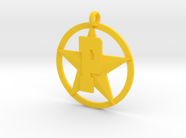 PHS charm - Plains Star in Yellow Processed Versatile Plastic
