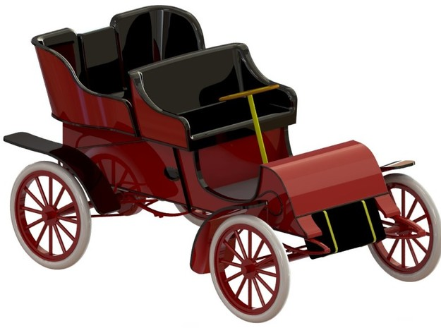 Cadillac Modell A Tonneau 1903-1904 1/32 in Smooth Fine Detail Plastic