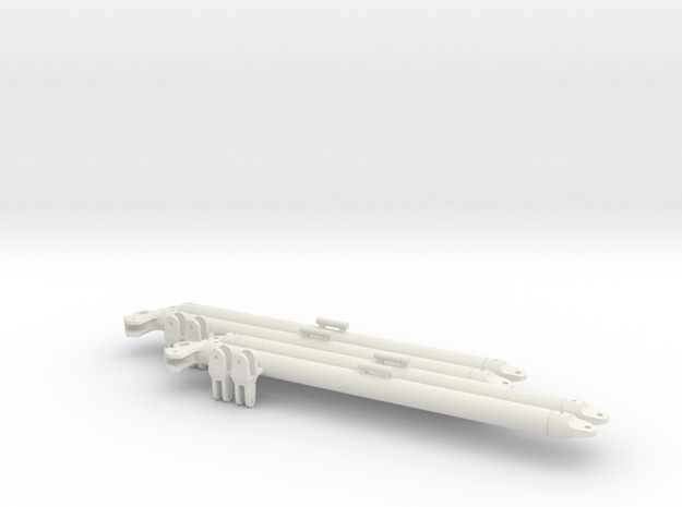 1/16 tusk II h tow bars 2x  in White Natural Versatile Plastic