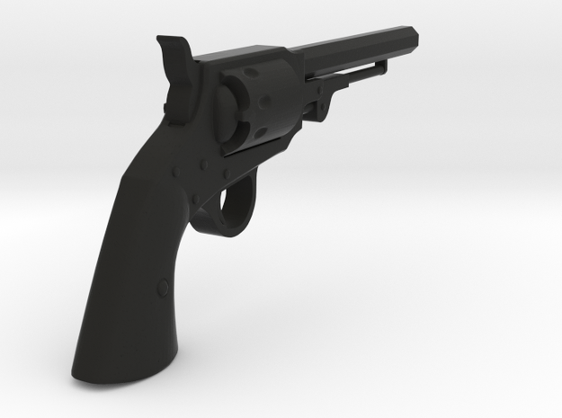 Ned Kelly Gang Colt 1851 Revolver 1:18 Scale in Black Natural Versatile Plastic