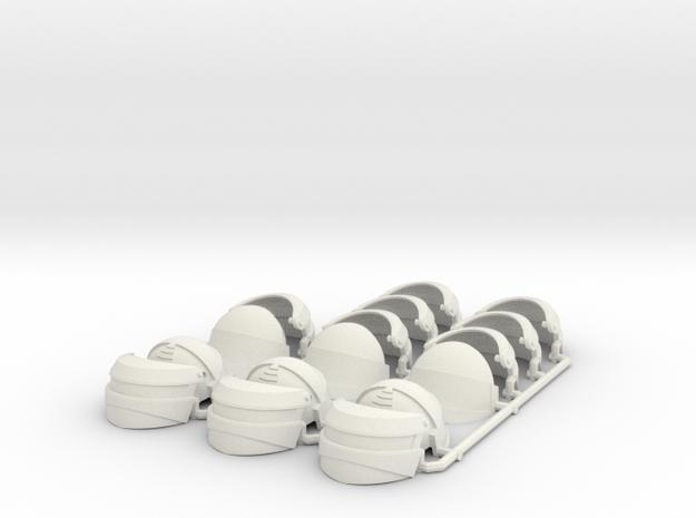 1:12 Reptilian Shock Trooper helmet x6 in White Natural Versatile Plastic