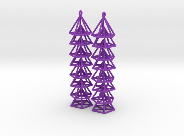 Pyramid Earrings 3d printed