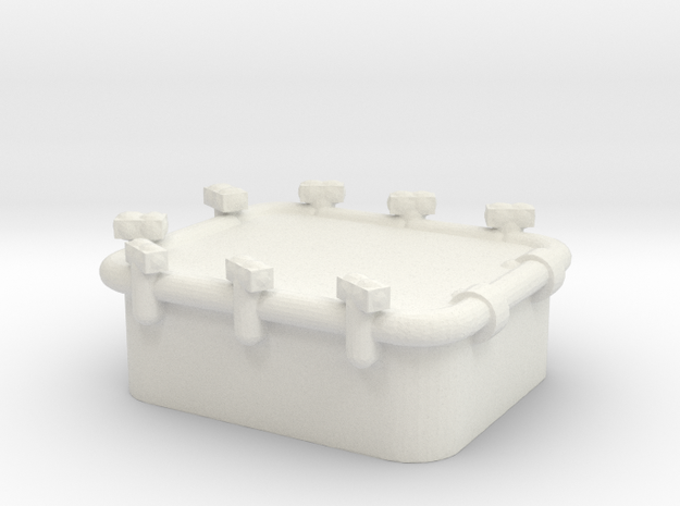 1/96 Scale 36 x 30 inch Armored Hatch in White Natural Versatile Plastic