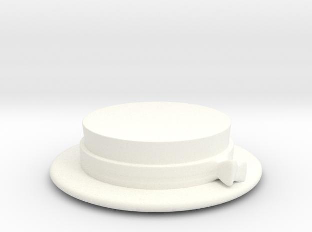 Straw Hat 1920 in White Processed Versatile Plastic