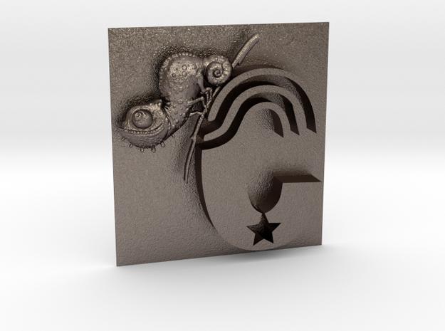 C-Chameleon-Antik-F in Polished Bronzed-Silver Steel