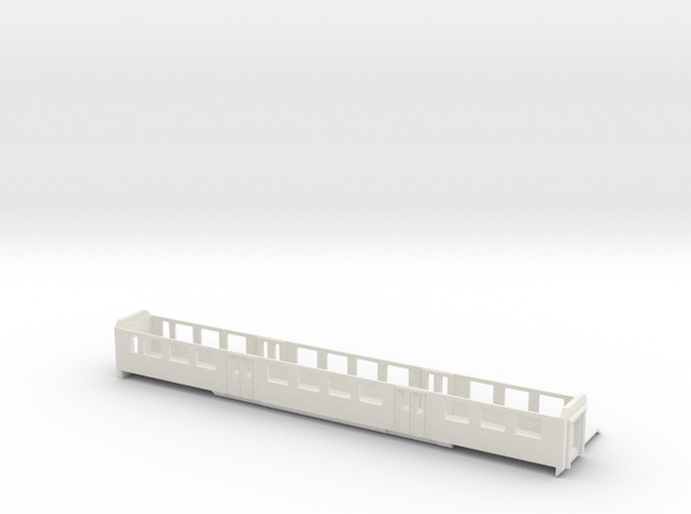 NPZ Mittelwagen Spur  HO   in White Natural Versatile Plastic