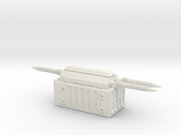Electrical Transformer 1/100 in White Natural Versatile Plastic