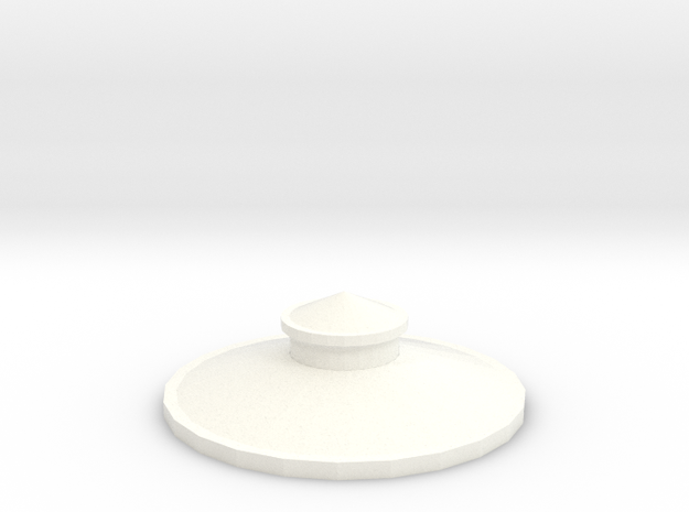 Z Scale Roof for Water Tank Tower FS Railways in White Processed Versatile Plastic