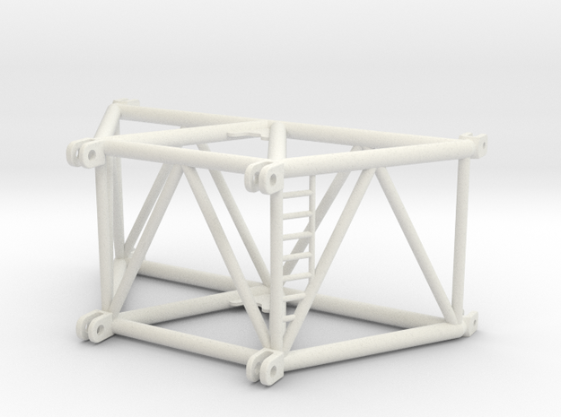 SX_ 3m_foot_section in White Natural Versatile Plastic