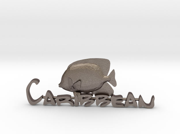 Engelfisch-Caribbean in Polished Bronzed-Silver Steel