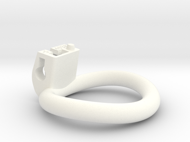Cherry Keeper Ring - 40x38mm Wide Oval -5° (~39mm) in White Processed Versatile Plastic